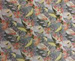 CRANES AND FLORAL JAPAN - Fabric 100% Cotton - Price Per Metre